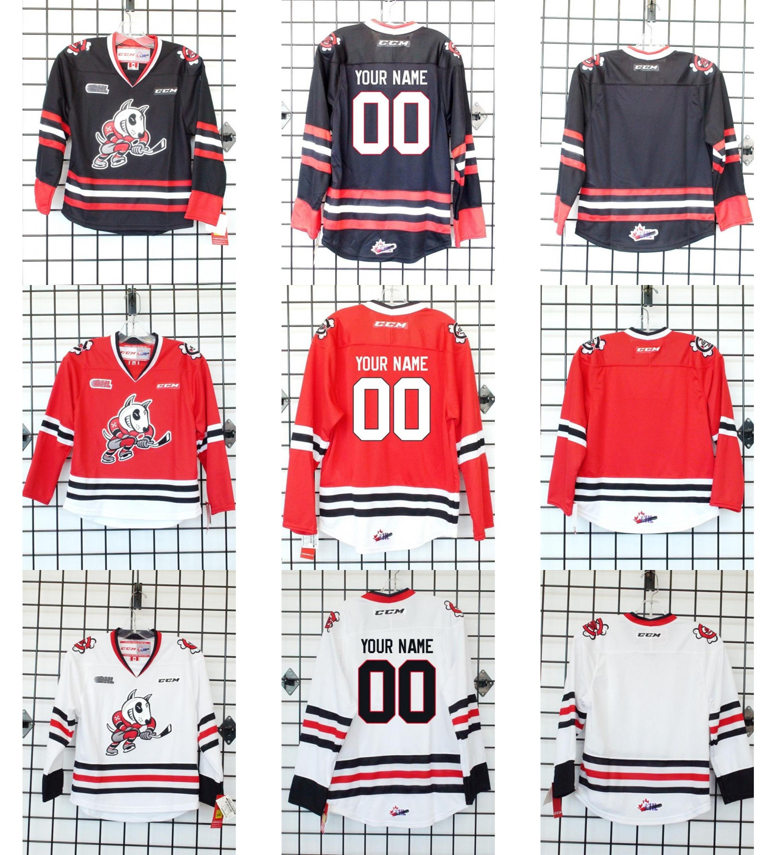 2019 2016 Customize OHL Niagara IceDogs Jersey Mens Womens Kids Black White  Red Ice Hockey Cheap Jerseys Custom Any Name Any NO.Goalit Cut From Since 5d199dbce