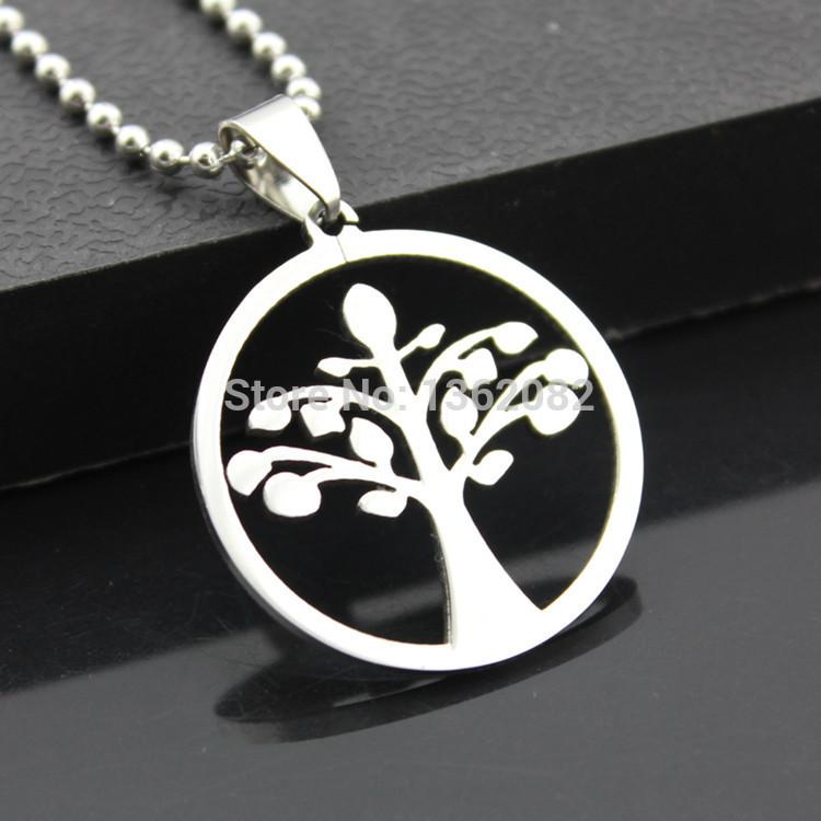 Wholesale fashion jewelry men womens stainless steel celtic tree wholesale fashion jewelry men womens stainless steel celtic tree of life charm pendant beads chain necklace amulet gift mn308 tree of life pendant beads mozeypictures Choice Image
