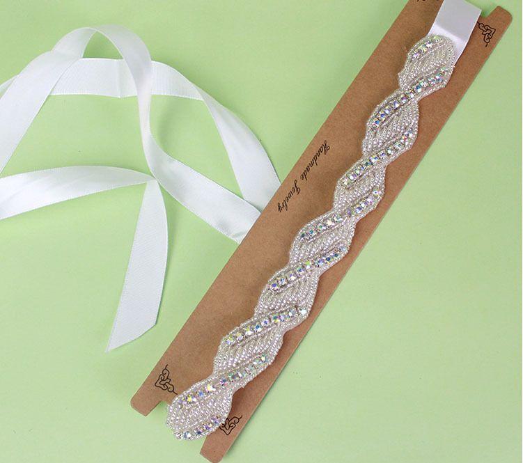 Gehobene koreanische Art glänzender weißer Kristalldiamant-Brautkleid-Kopf-Zusatz-Tiara-Haar-Kopfschmuck-Stirnband-Schmuck-Einzelverkauf
