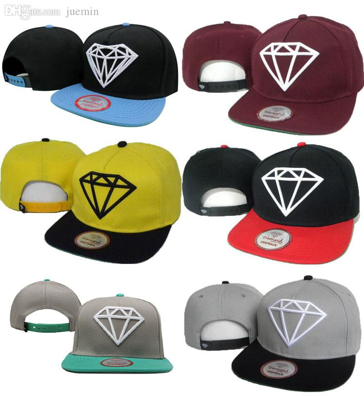 Wholesale Acrylic Adjustable Diamonds Supply Co. Crown Snapback Caps Red  Yellow Black Blue Grey Brixton Hats Trucker Cap From Juemin f7fbcaaa0736