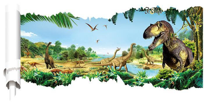 D Floor Jurassic Park Dinosaur Vinyl Wall Decals Mural Stickers - Custom vinyl wall decals dinosaur