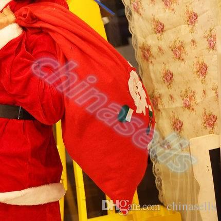 Saco grande de regalo de navidad Saco de navidad Saco de santa claus bolsas Bolsa con cordón Bolsa de regalo grande regalo de Santa 70 * 50 cm