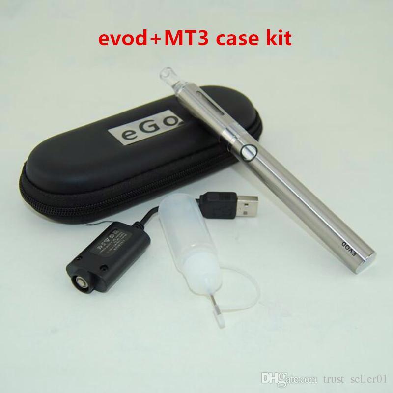 Высокое качество MT3 Eovd Starter Kit Электронные сигареты EGO EVOD 650MAH 900MAH 1100 мАч Батареи MT3 Vaporzizer Vape Pens Case Kits DHL бесплатно