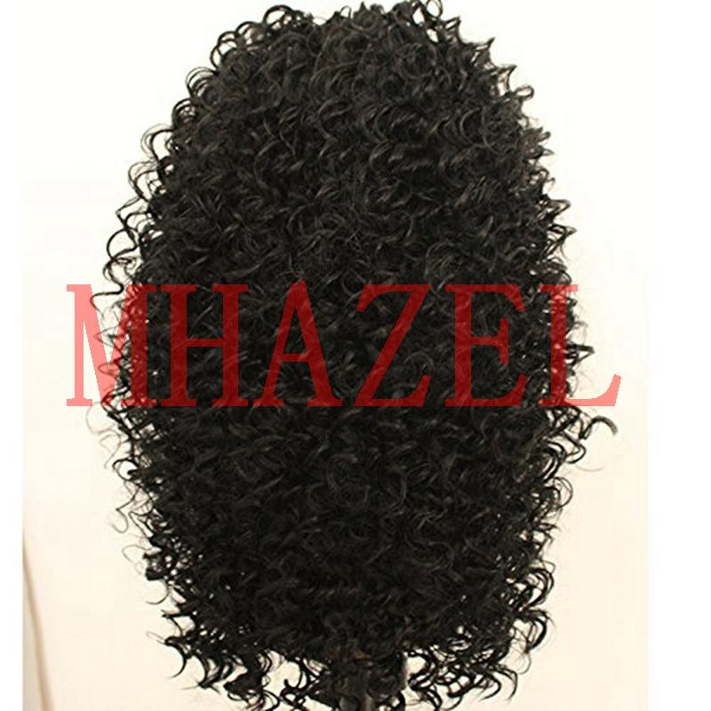 MHAZEL Afro Kinky Curly Lace Front Human Hair Wigs 150% For Black Women Brazilian Remy Virgin Hair Lace Front Wig