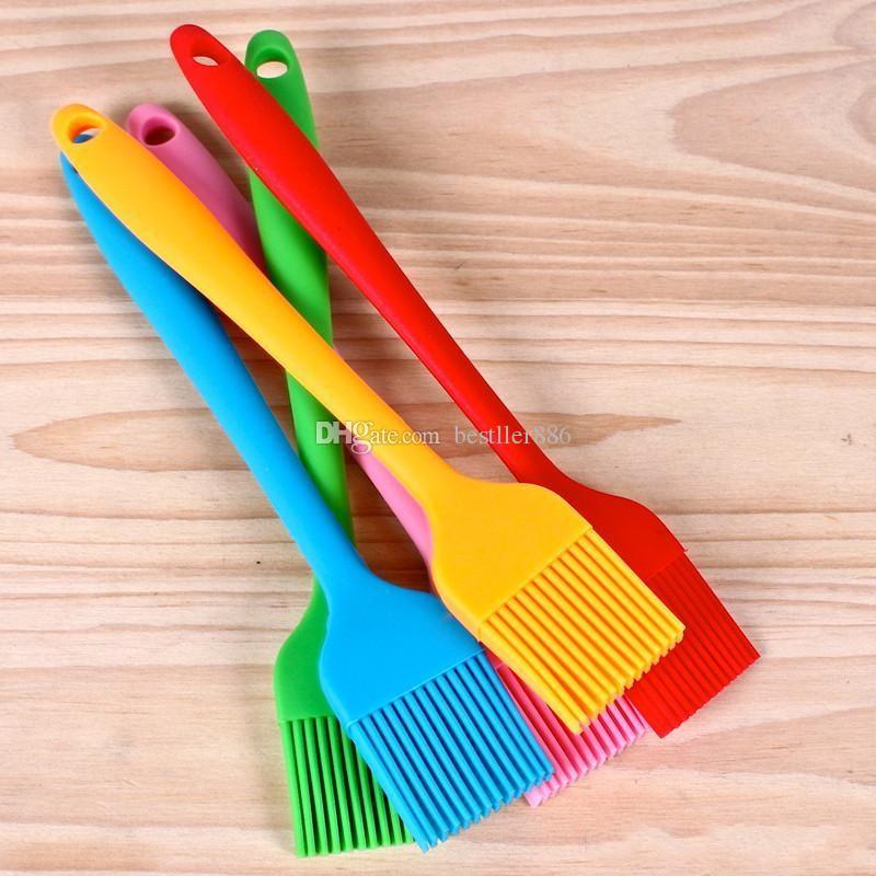 Silicone Baking Brush Liquid Oil Cake Butter Bread Pastry Brush BBQ Utensil Safety Basting Brush ELH036
