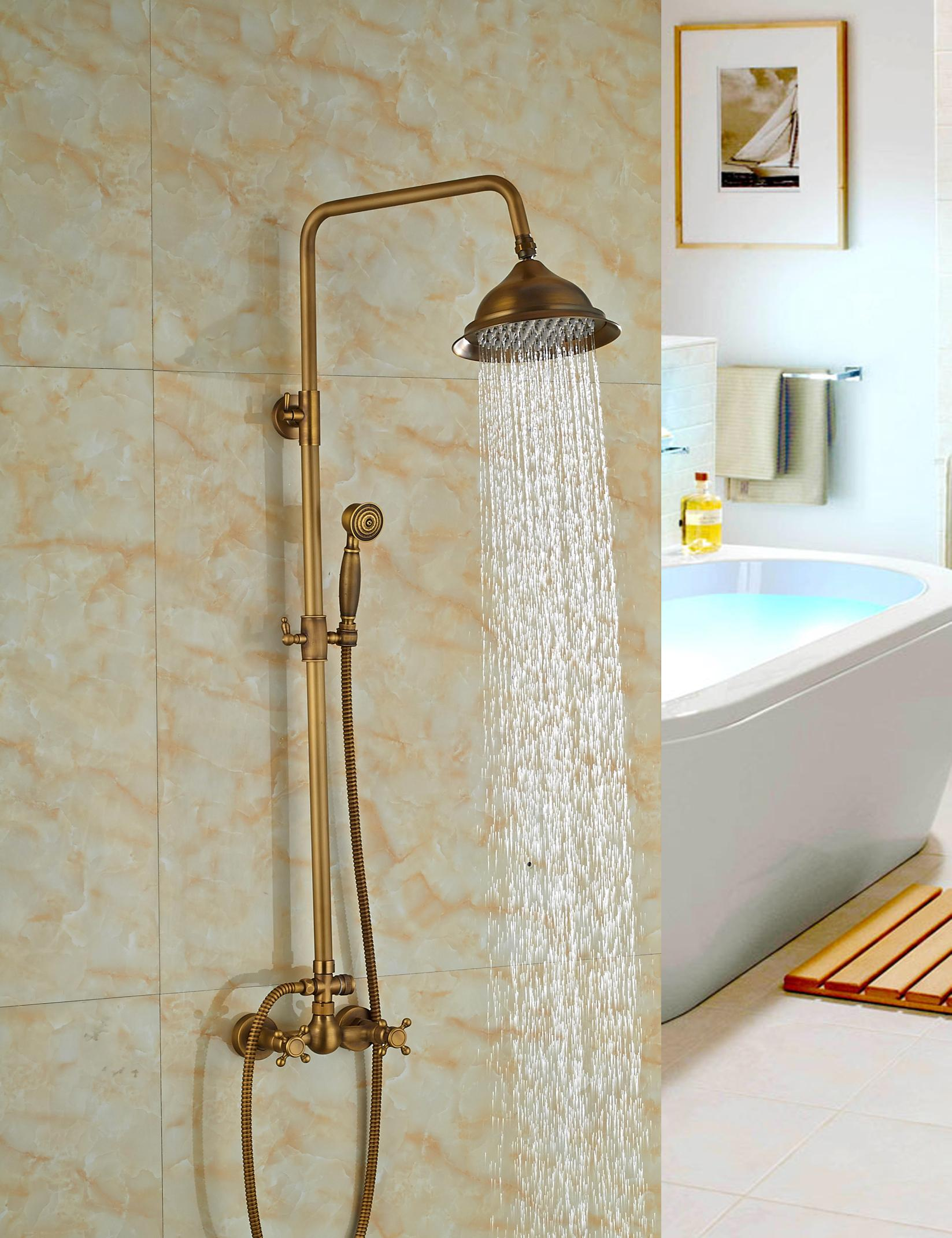 2018 Wholesale And Retail Solid Brass Antique Style Rain Shower Head ...