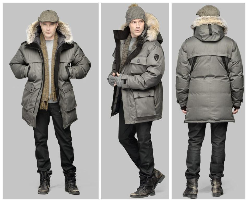 61f5a7472 Nobis Yatesy Down Jackets Outlet offers Mens Long Parka Crosshatch Gray  coat the great quality on DHgate