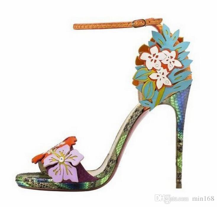 Sandalias Moda Zapatos 11cm Mujer Peep Toe Compre De Apliques thQrsdC