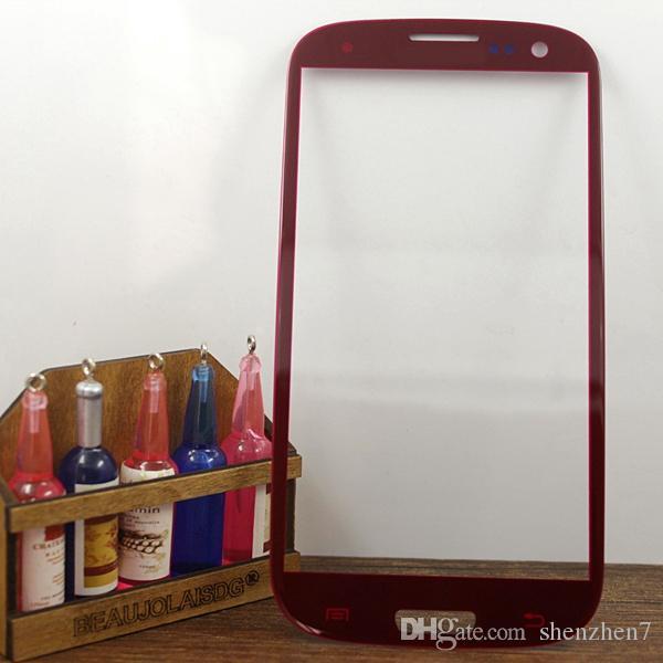 Vordere äußere Glaslinse für Samsung Galaxy S3 Multicolor Großhandel hoch klar transparent Touchscreen Digitizer Platte wasserdicht SNP008
