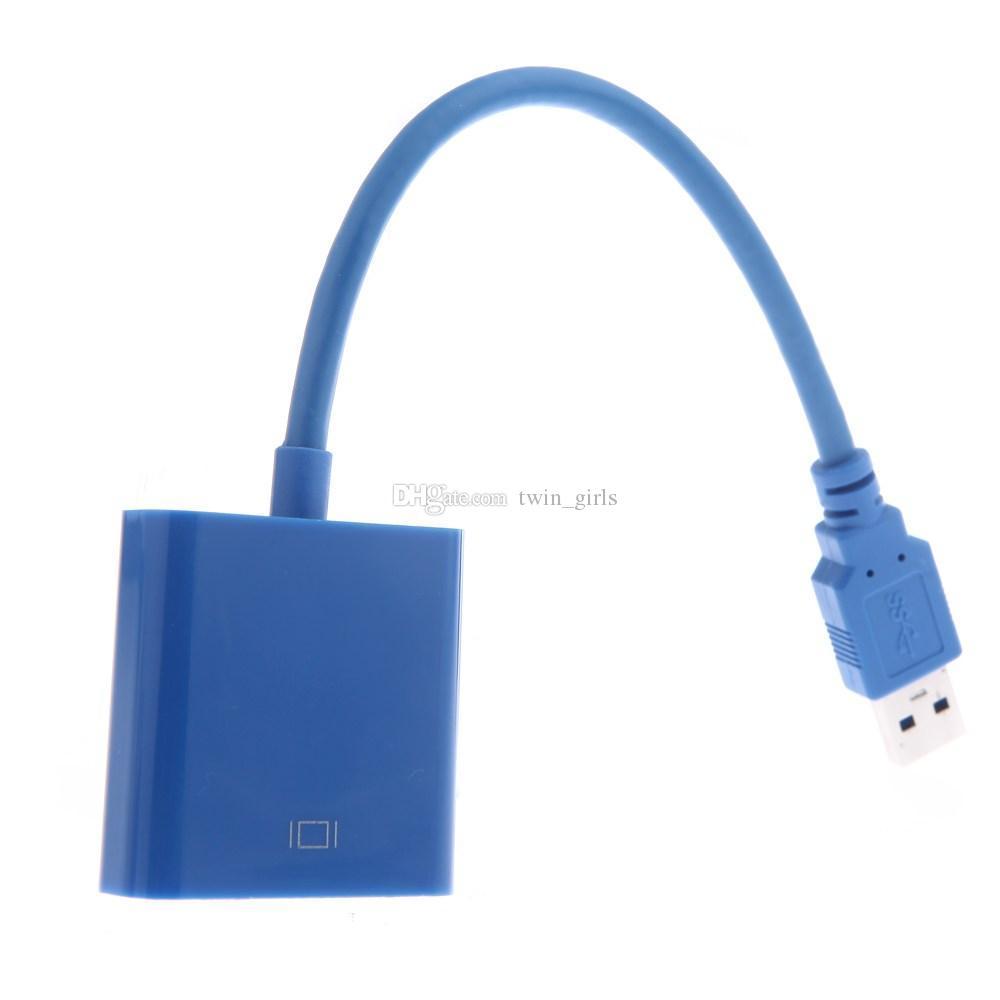 USB 3.0 - VGA Çok Ekran Adaptörü Dönüştürücü Harici Video Grafik Kartı Ücretsiz DHL Nakliye