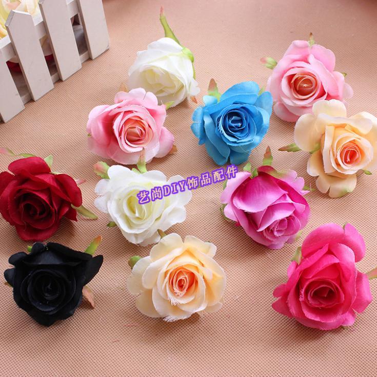 Discount diy craft mini rose flower heads silk flower for Flower heads for crafts