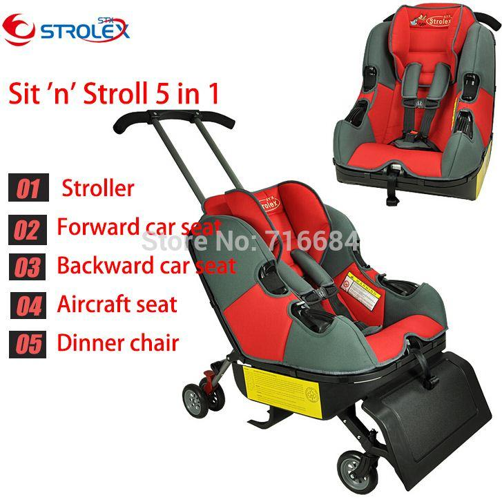 2019 Canada Strolex 5 In1 Sit N Stroll Infant Travel Combine Carseat Stroller Flight Seat