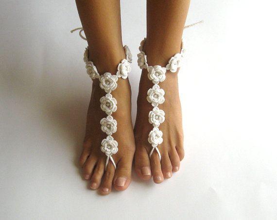 Crochet Pattern Flower Barefoot Sandals Crochet Pattern Nude Shoes