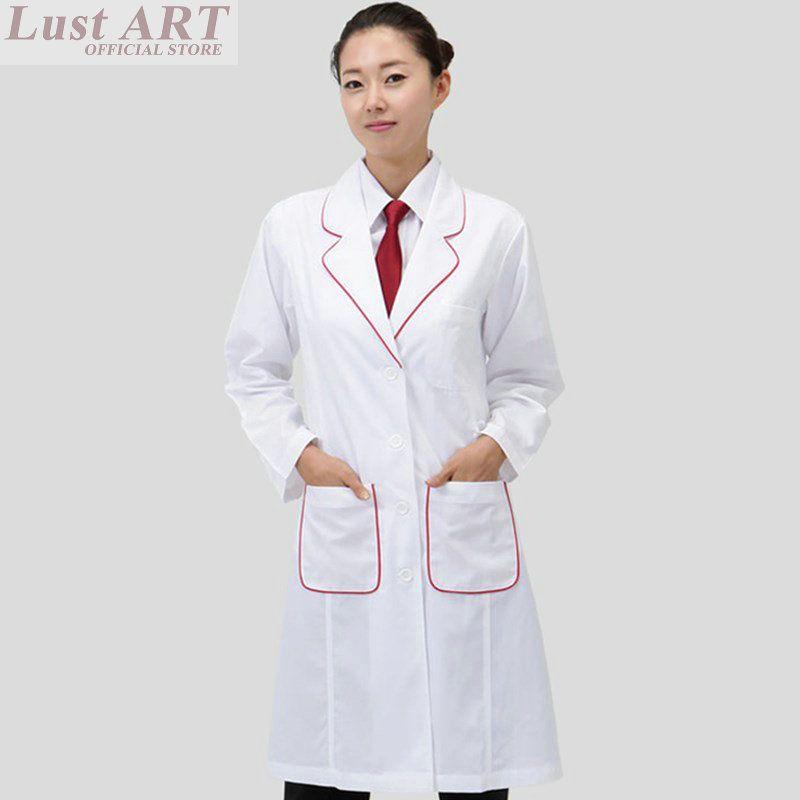2018 Medical Uniforms White Long Sleeve Medical Scrubs Women Medical ...