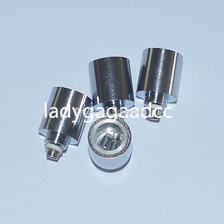 2016 NOVA Dupla Quartz wax dry bobina de bobina de Tubo De Quartzo para canhão vaso de boliche atomizador globo de vidro atomizador cera seca erva Atomizador Ecig