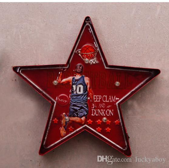 Football Superio Eat Sleep Play Vintage Neon Sign Decorative painting LED metal signs bar Cafe Cerveja Shabby chic wall decoration signboard