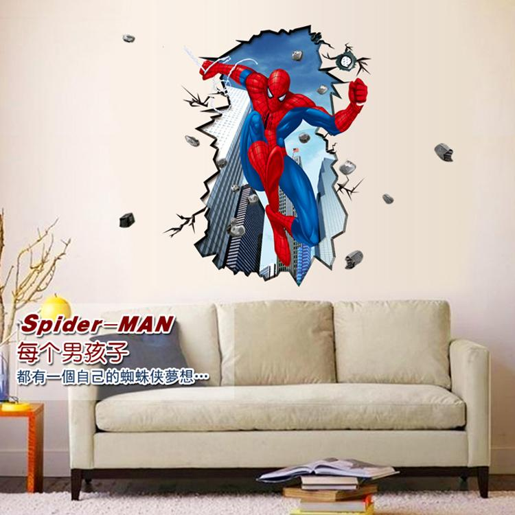 Extra Large D Effect Wall Stickers Cartoon ChildrenS Bedroom - 3d effect wall decals