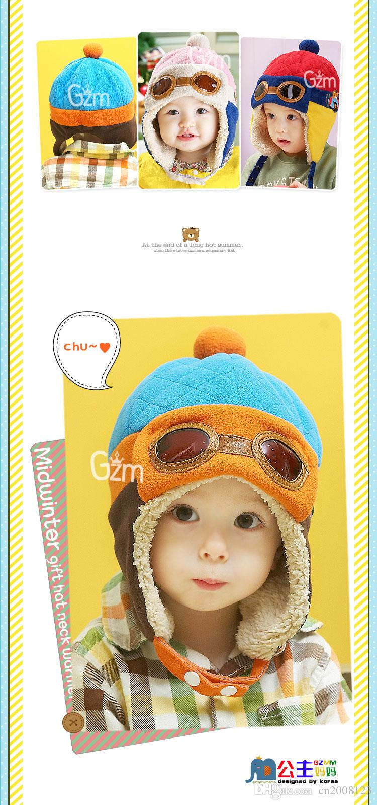 Toddlers Cool Baby Boy Girl Kids Infant Winter Pilot Aviator Warm Cap Hat Beanie Ear Flap Soft Hat c126 BM107