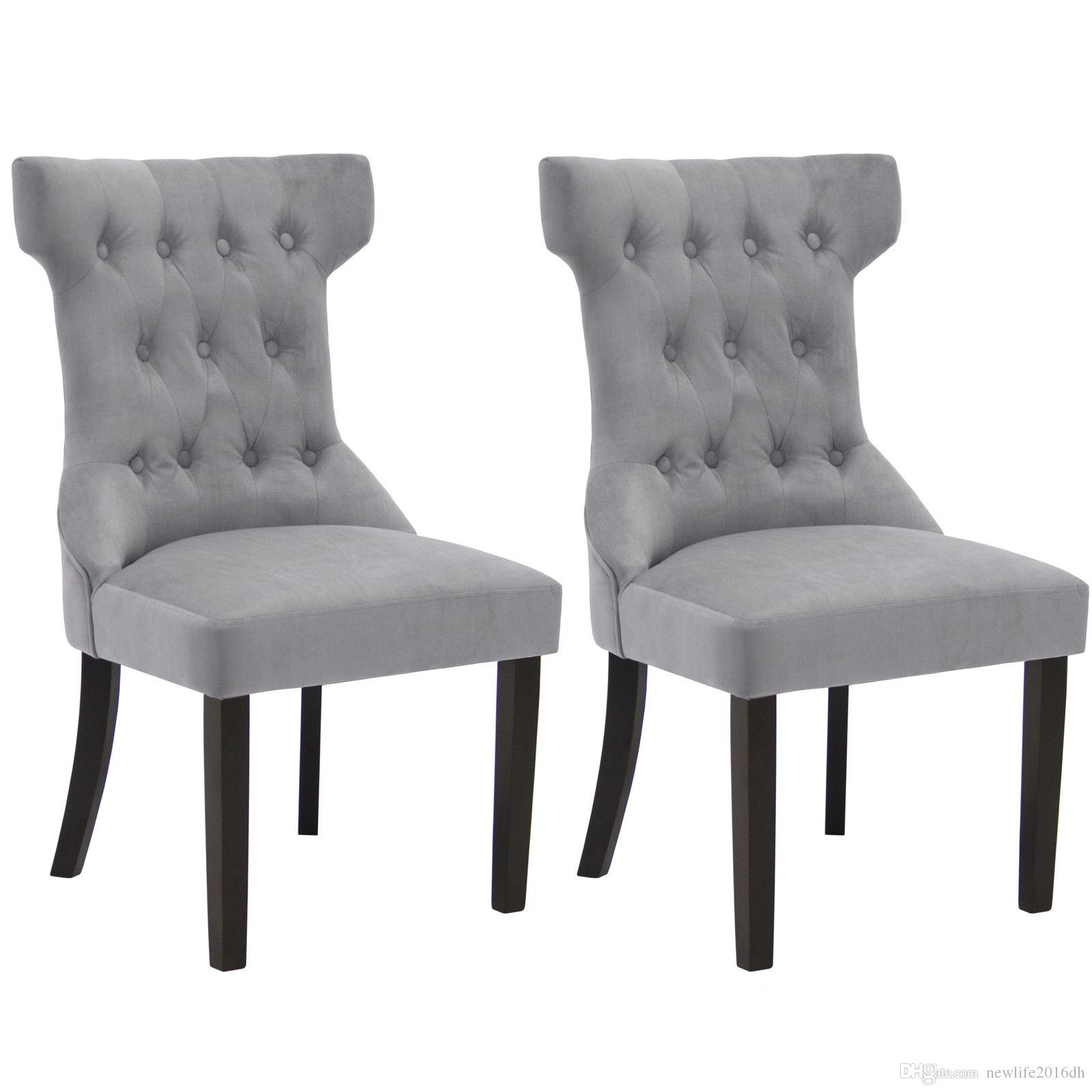 2018 bcp set of 2 elegant design tufted dining chairs contemporary furniture gray from newlife2016dh 155 78 dhgate com