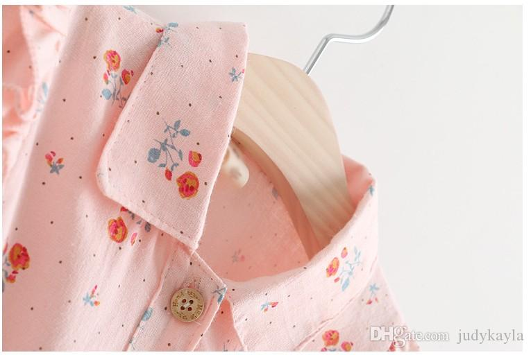 2018 Spring New Girls Long Sleeve Dress Kids Floral Printed Stitching Dresses Baby Girl Lace Tulle Tutu Skirt Children Clothing 2-7T