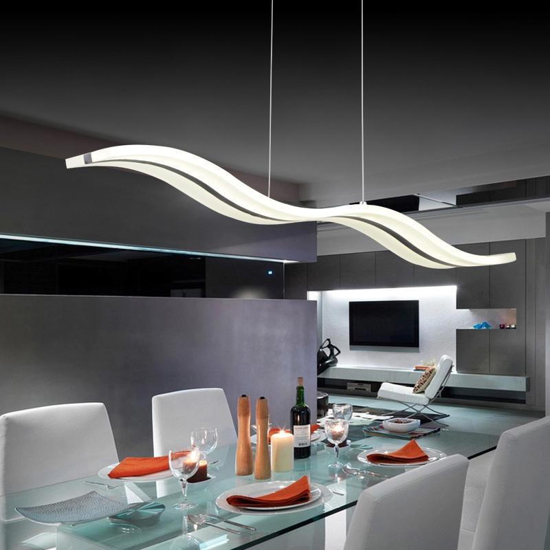 Modern Comtemporary Wave Led Pendant Lights Lamps