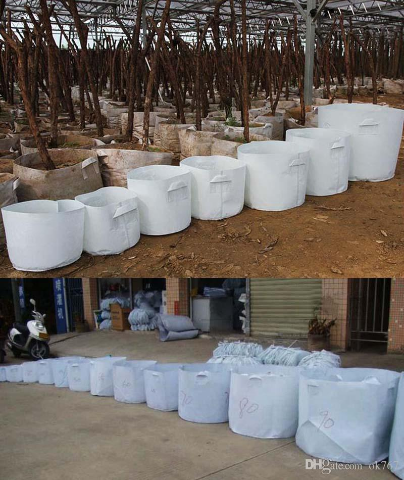 Многоразовые круглые нетканые ткани горшки завод мешок корневой контейнер расти мешок аэрации контейнер садовые принадлежности горшок
