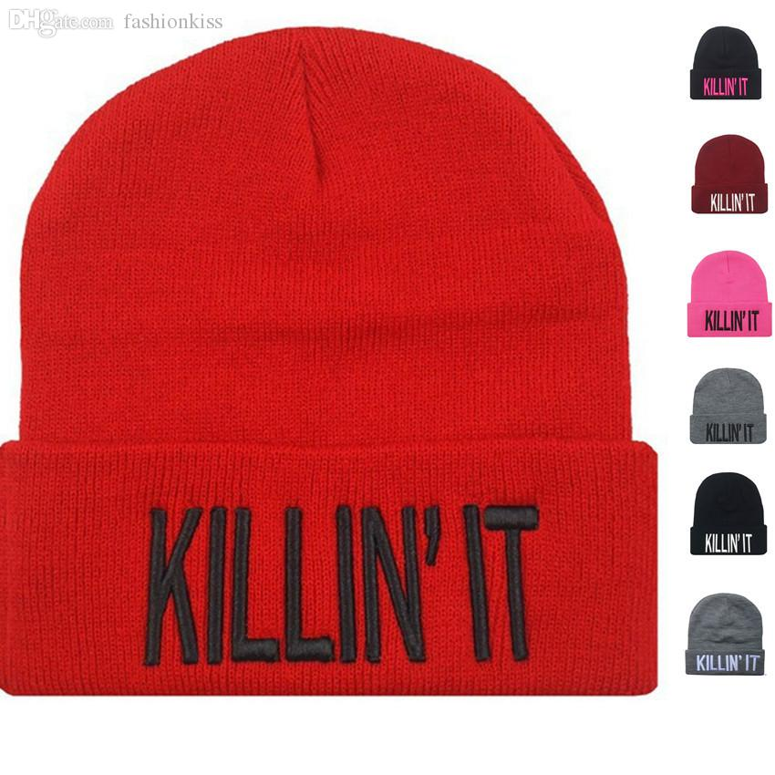 Wholesale Men Women Plain Beanie Knit Ski Cap Skull Hat Warm Solid Color  Winter Cuff New Blank Beany Beanie Hat Slouch Killin It Beanies Skull Cap  Beanie ... e6e61658840