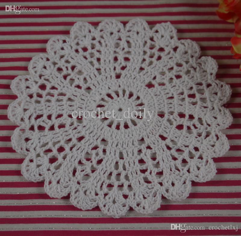crochet doilies fabric table lace placemats coasters kitchen accessories Dial 14-16cm Custom Colors zj005