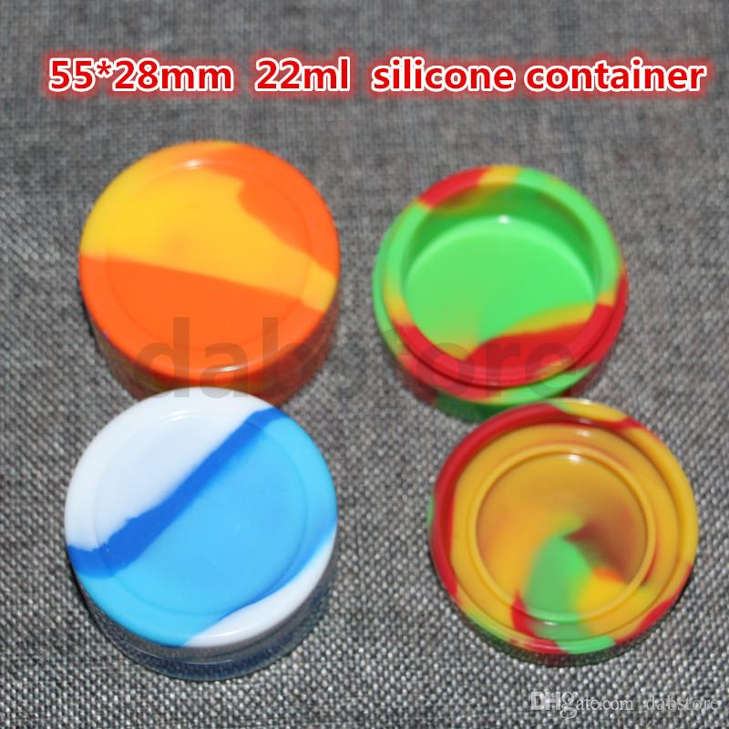 silicone wax oil container 22ml 55*28mm containers concentrate wax containers silicone jars wax wholesale DHL