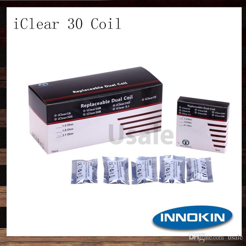 Innokin ICLEAR 30 Cewki Głowica 100% Oryginalna 1.5 1.8 2.1 Ohm ICLEAR 30 Atomizer Wymiana Dual Coil Head 100% Oryginał
