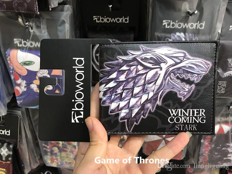 New PU Leather Wallet Game of Thrones Short Wallets With Card Holder Men And Women Purse Cartoon Wallet Dollar Price