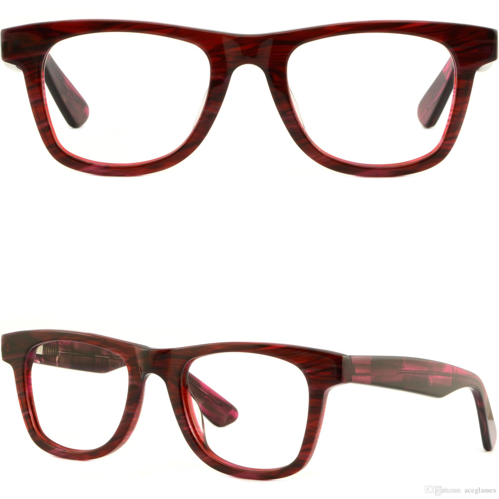 Thick Strong Men Womens Frame Large Acetate Red Eyeglasses Glasses ...
