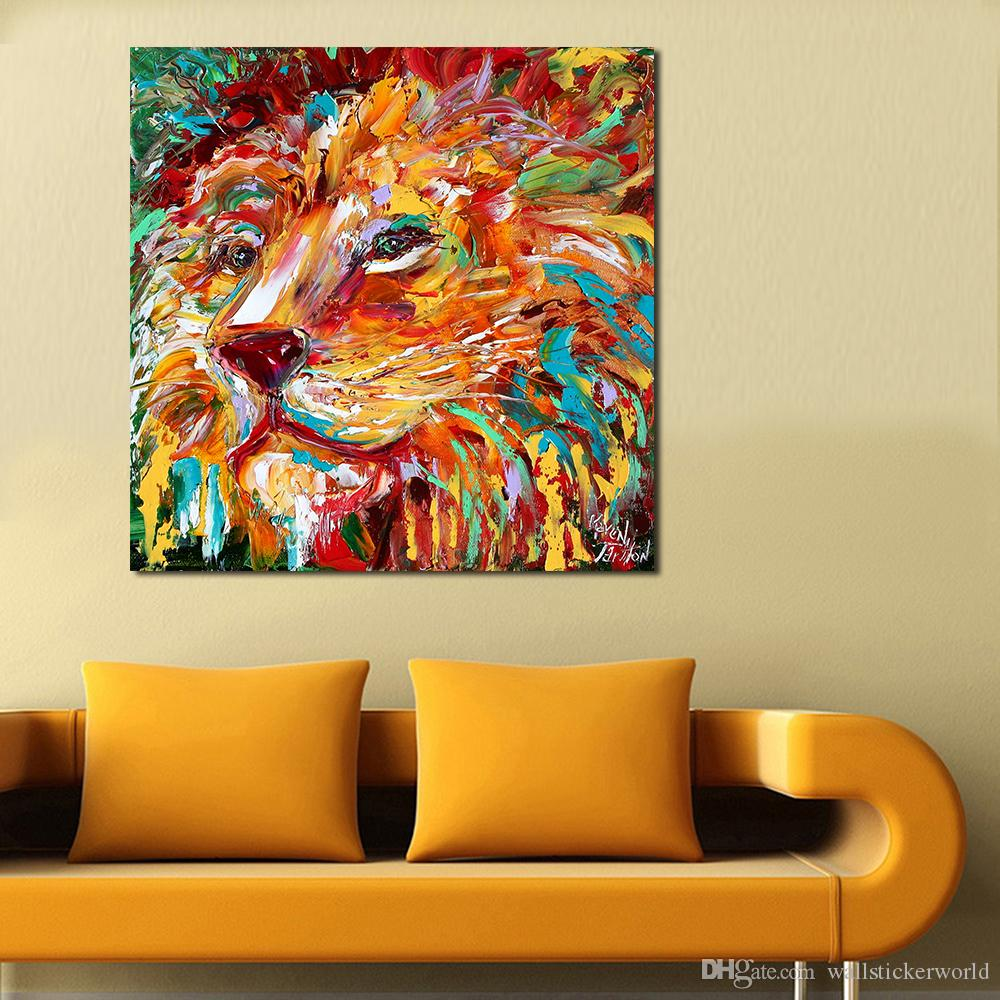The Colorful Lion King Painting Wall Art Home Decor Modern Canvas Print No Frame For Living Room Picture