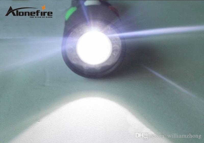 ALONEFIRE RX3-RWG USB Источник питания CREE XPE Q5 LED красный белый зеленый Железнодорожный обслуживающий персонал сигнальная лампа фонарик факелы