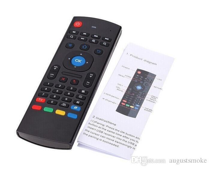 Hot sale U1 Keyboard Fly AirMouse Mini Wireless Remote G Sensing Gyroscope Sensor MIC Combo MX3 For MXQ M8S Amlogic S905 STB Android TV BOX