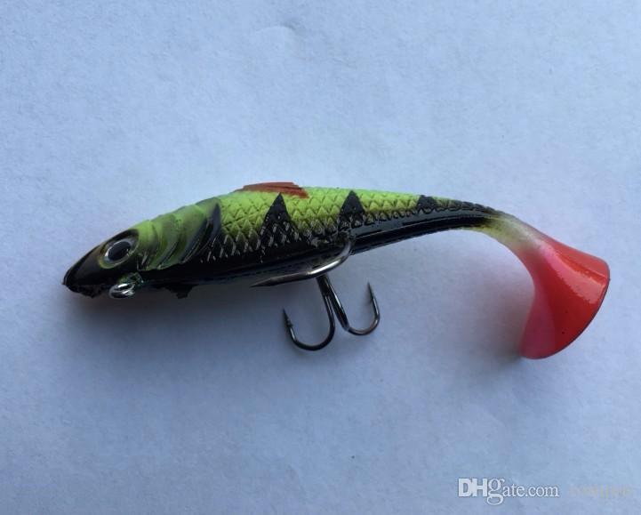 11g 8cm leurres de pêche de pêche en mer appâts doux plomb lumineux pêche appât artificiel gabarit wobblers en caoutchouc silicone leurre