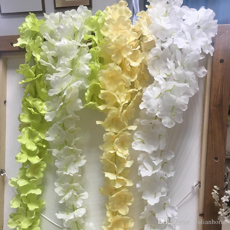 Guirlanda de Seda Artificial de Flores de Casamento de Alta Densidade Hydrangea Flor Petal Cordas Decorações Do Casamento Fontes Do Partido de Várias Cores Por Atacado
