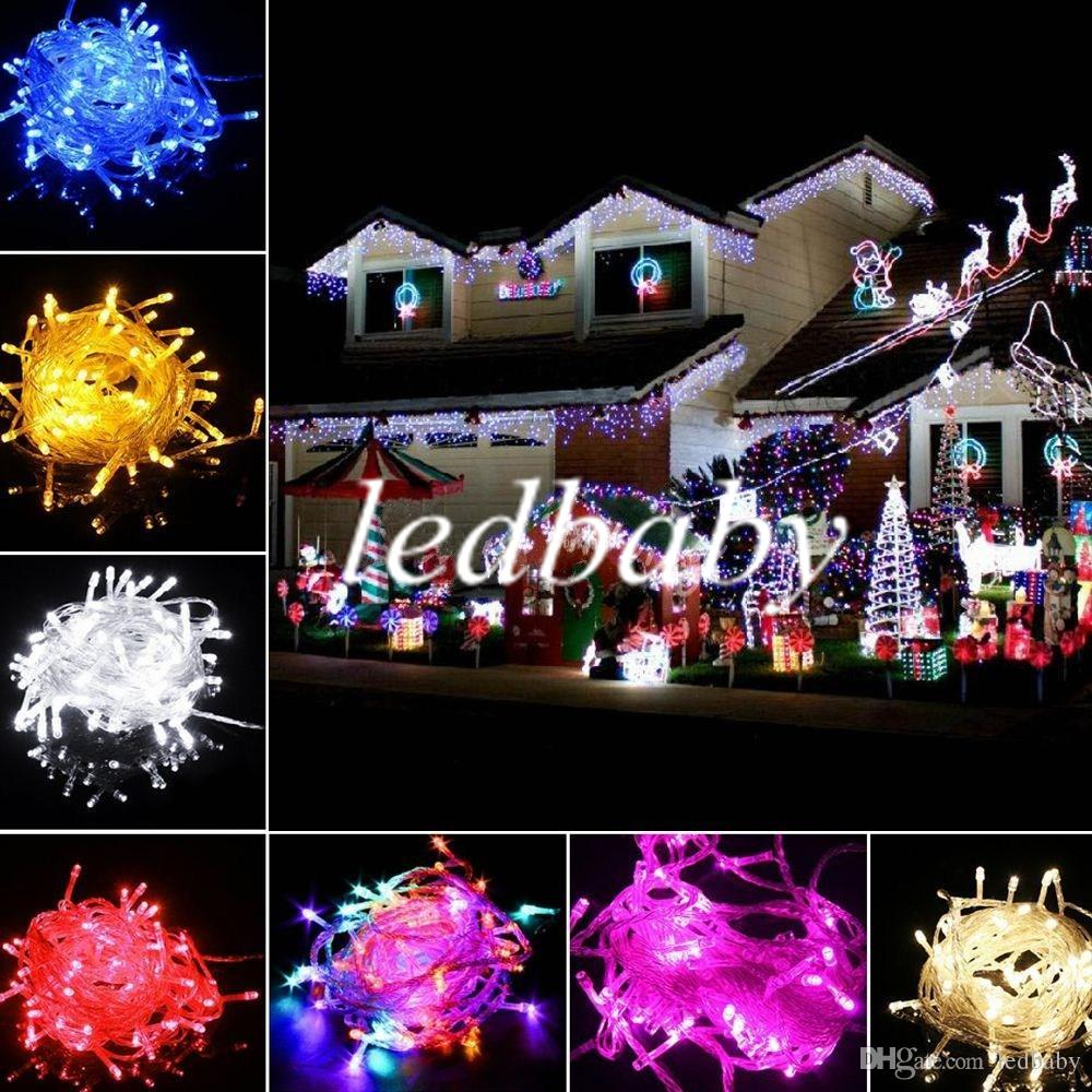 big discout 100 leds led string lights 10m 110v220v for clear wire christmas decoration xmas holiday lights led patio string lights globe lights string