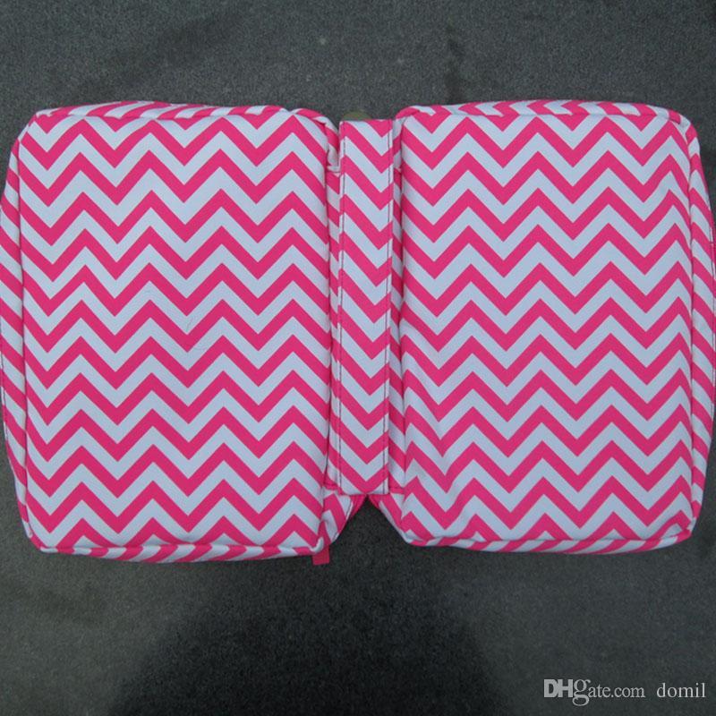Çeşitli renklerde DOM106017 Saplı Pratik Chevron İncil Kapak veya Dergi Kapağı Polyester Fermuar Kapatma
