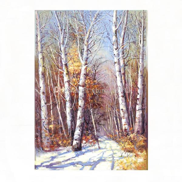 Abstract Woods Landscape Painting Hd Print Oil Painting Modern Simple Wall Art Pictures Decoration Home Hotel
