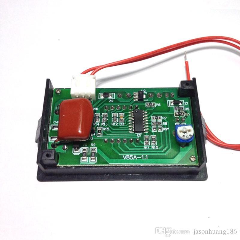 Mini AC Voltmeter AC 60 V-500 V Volt Panel Meter Gauge Rot Drei 0,56 '' LED Digitalanzeige Spannungsüberwachung Kostenloser Versand