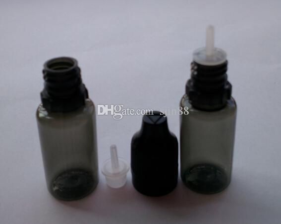 10ml Black Plastic Bottles E Liquid Bottles With Childproof Tamper Cap And Long Thin PET Dropper E Cigarette Bottles