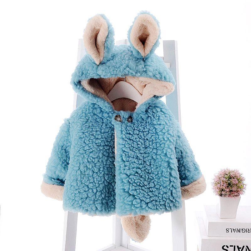 a5ab06185495 Baby Girls Winter Coat Faux Fur Fleece Children Jackets For Girls ...