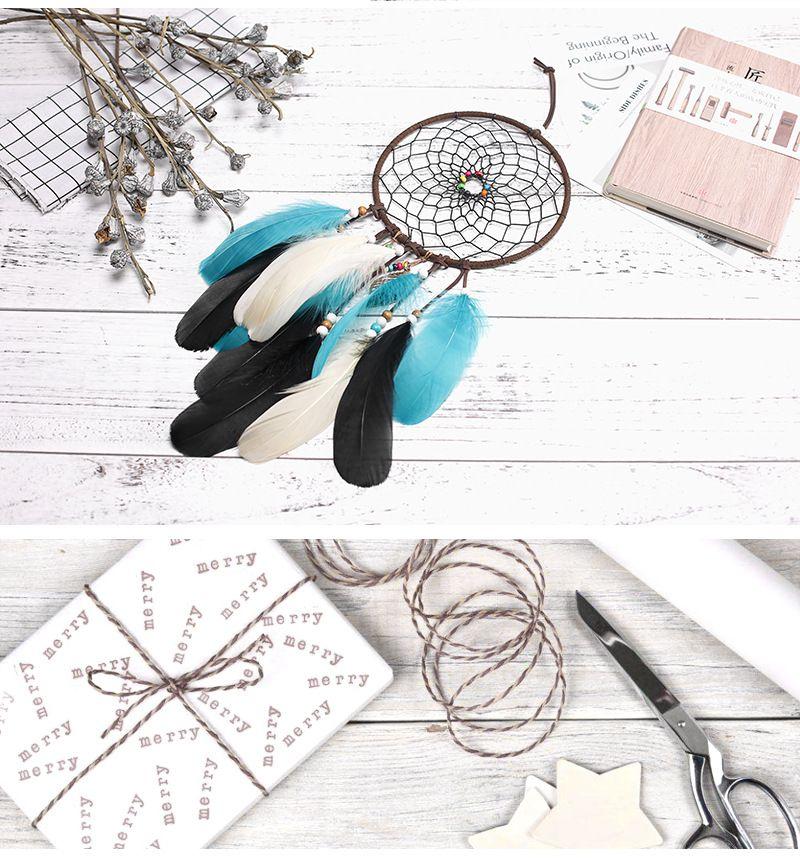 2018 Vintage Enchanted Forest Dreamcatcher Handmade Dream Catcher Net con piume e campanelli eolici Hanging Diameter 16cm