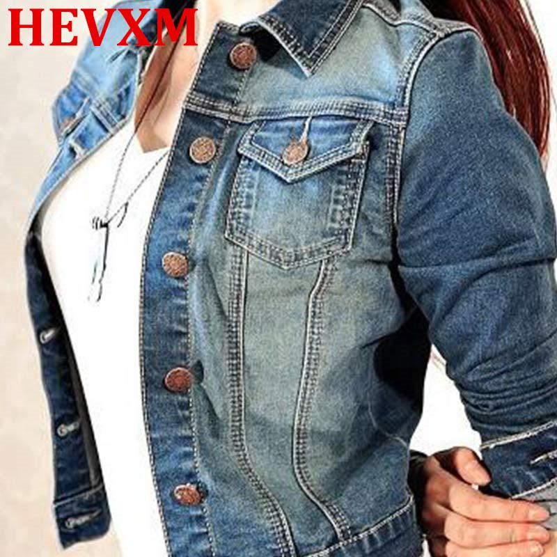 ebd28b7ae41 Wholesale- HEVXM Fashion Spring Autumn Women Jeans Jacket Short Tops ...