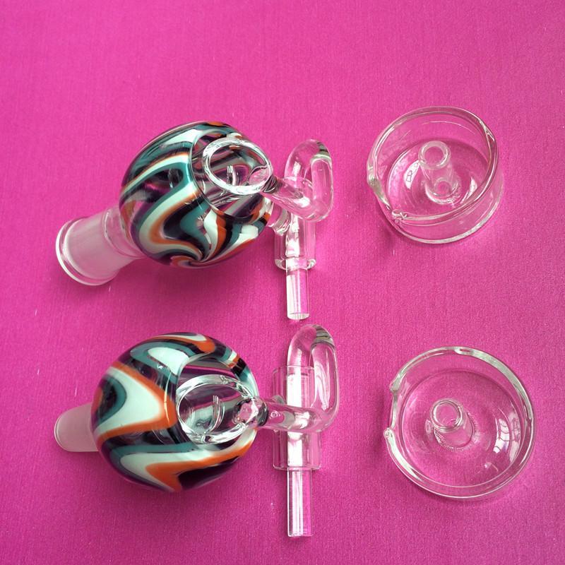 ホット !!スイングと炭水化物ガラスの水の喫煙パイプアクセサリーの最新のスタイルの男性、女性のクォーツのネイルバケツ石英ネイル