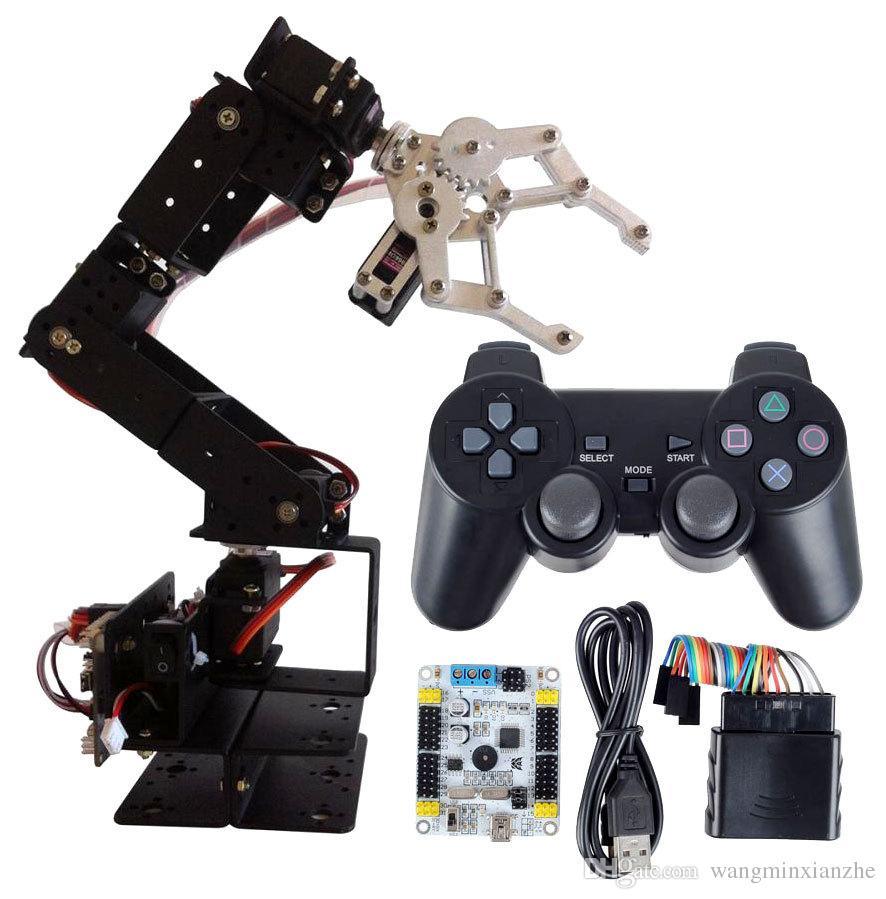 Arduino Robot 6 DOF Aluminium Clamp Claw Mount kit Mechanical Robotic Arm &  Servos & 32 CH Controller