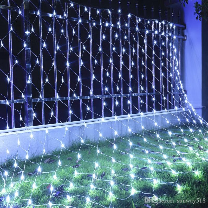 christmas lights led string lights 32m 64m net mesh fairy twinkle flash lamp home garden christmas wedding xmas tree party decora heart string lights
