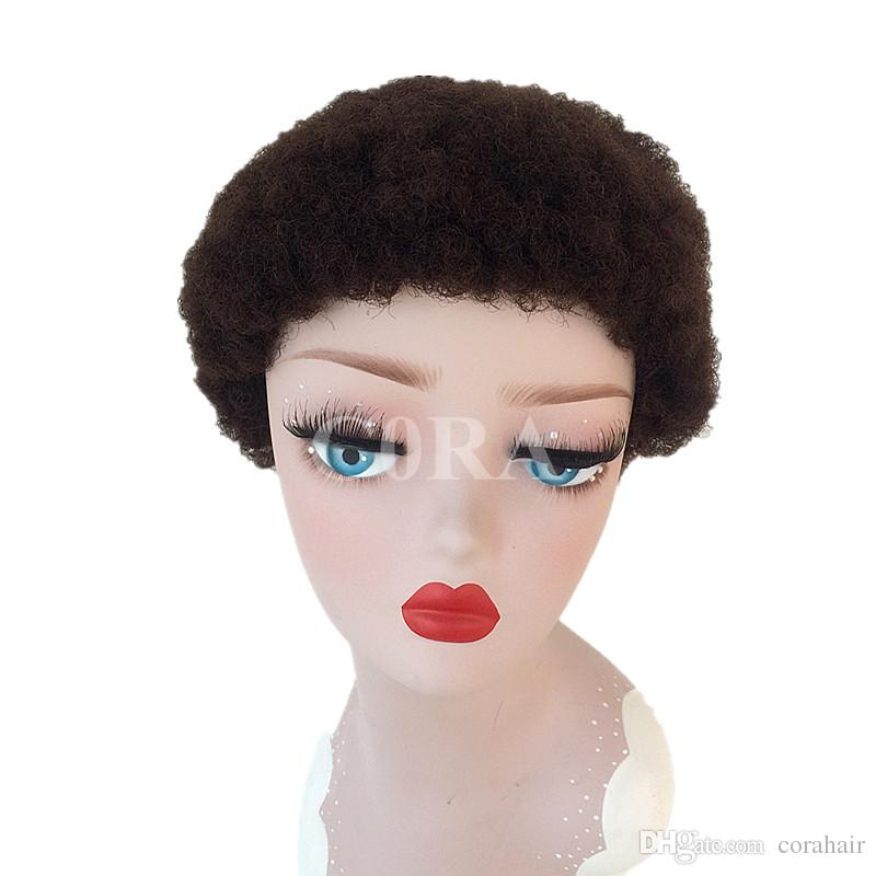 Short Human Curly Lace Front Wigs 6inch Black Color Natural Cheap Hair Wig Machine Made Lace Front Wig