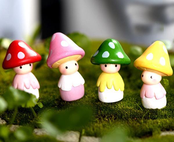Mushroom Garden Ornaments Fairy Garden Miniatures Home Decoracion Jardin  Mushroom Figurines For Garden Mushroom Garden Ornaments Fairy Garden  Miniatures ...